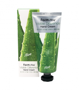 Farmstay Крем для рук с алоэ AloeVera Visible Difference Hand Cream
