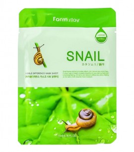 Farmstay Маска-салфетка с улиткой Visible Difference Mask Sheet Snail