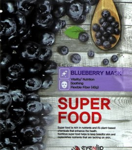 Eyenlip Маска-салфетка с экстрактом черники Super Food Blueberry Mask