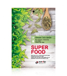Eyenlip Маска-салфетка с экстрактом зеленого чая Super Food Green Tea Mask