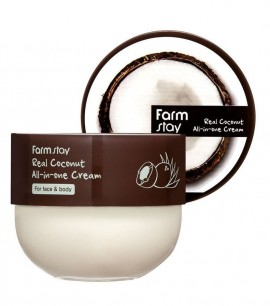 Farmstay Крем для лица и тела с маслом кокоса Real Coconut All-in-One Cream